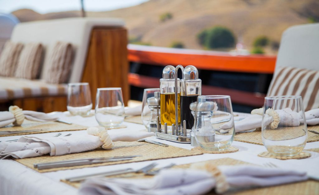 Private Charter Dining on Deck
