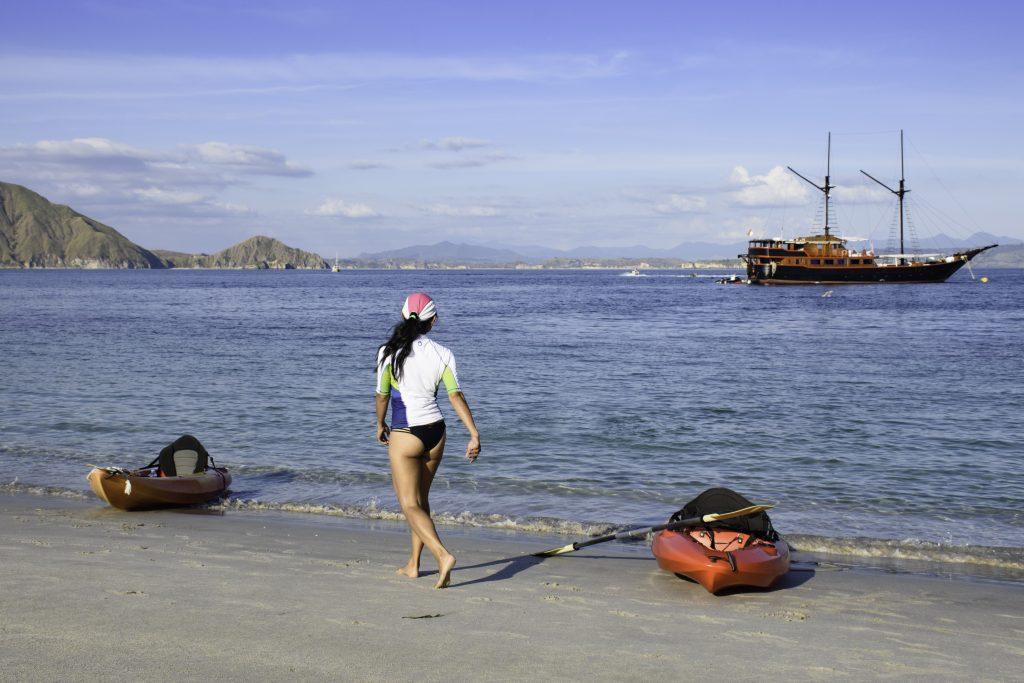Padar Island beach activity