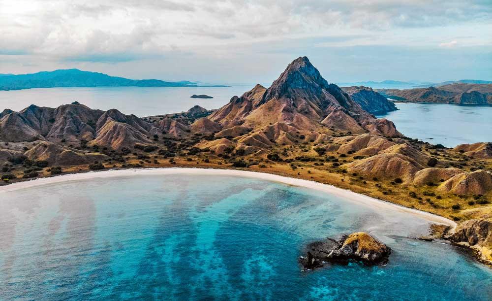 Aerial view of Padar Island