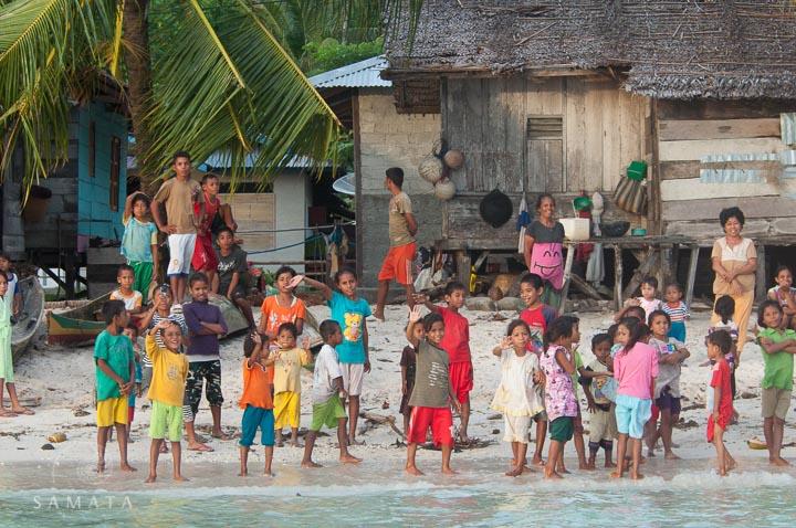 Villagers Waving